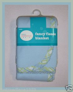 """NWT Baby Boy's Lightweight Fancy Fleece Blanket - Embroidered Edges - 30 x 30""""  - Sold April 7, 2013"""