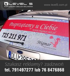 Reklama na samochód.