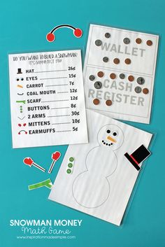 Snowman Money Math G