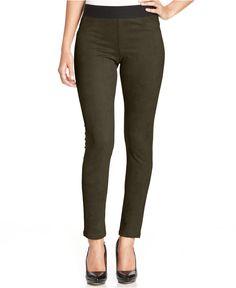 Karen Kane Brown Faux Suede Leggings - Pants - Women - Macy's  #Karen_Kane #Fashion #Macys
