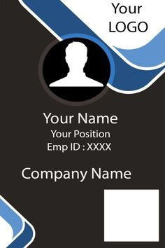 ID Card Template: 25 Professional ID Card Templates - Demplates Invoice Template Word, Id Card Template, Card Templates, Background Templates, Business Cards Layout, Embossed Business Cards, Letterpress Business Cards, Identity Card Design, Name Card Design
