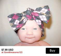 Fabric Cloth Headband Bows Headscarf Headwraps Top Knot Women Children Baby Mom Baby Sets  PINK Dolly Bow Hair Tie Banda
