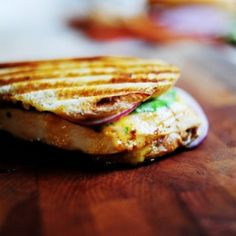 Grilled Chicken Sandwich with Apricot Sauce Recipe Main Dishes with boneless skinless chicken breasts, sourdough, crusty bread, apricot preserves, mayonnaise, dijon mustard, cayenne pepper, baby spinach, purple onion