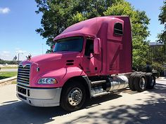 Demonstrating its support for raising breast cancer awareness, Mack Trucks is showcasing a pink Mack® Pinnacle™ axle back model at its Greensboro, N.C. h
