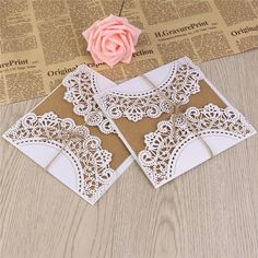 Buy Invitation Card Carved Paper European Style Bridal Hollow Out Wedding Congratulation Card Greeting Card at Wish - Shopping Made Fun Invitation Wording, Elegant Invitations, Invitation Cards, European Style, European Fashion, Wedding Congratulations Card, As You Like, Greeting Cards, Carving