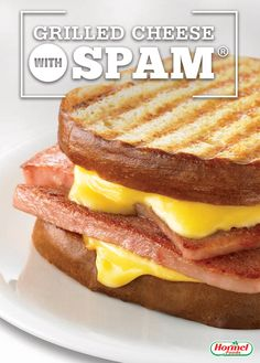 Kick up the flavor of your normal grilled cheese when you add fried SPAM® Classic. Spam Recipes, Retro Recipes, Cooking Recipes, Bread Recipes, Recipies, Tostadas, Tacos, Sandwich Recipes, Tasty