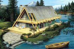 Elevation of A-Frame   Vacation   House Plan 86952
