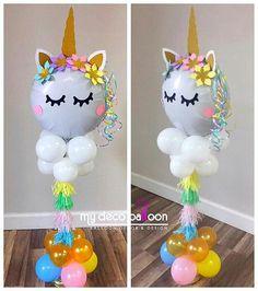 Loving this Unicorn balloon centerpiece ?❤️ Loving this Unicorn balloon centerpiece ? Party Unicorn, Unicorn Themed Birthday Party, Unicorn Balloon, Unicorn Baby Shower, Baby Girl Birthday, Unicorn Birthday Parties, Unicorn Centerpiece, Balloon Centerpieces, Balloon Decorations