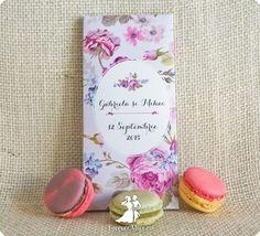Invitatie de nunta cutie de ciocolata La vie en Rose Jpg, Place Cards, Place Card Holders