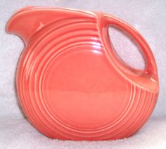 Fiestaware Orange Ball Disk Pitcher Homer Laughlin Fiesta Ware USA Pottery Vase