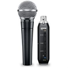 Shure SM58 + X2U Cardioid Dynamic Vocal Microphone with X2U XLR-to-USB Signal Adapter