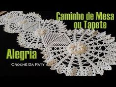 Ideas For Crochet Patrones Caminos De Mesa Crochet Art, Crochet Doilies, Crochet Patterns, Crochet Baby Pants, Crochet Table Mat, Crochet Videos, Crochet Squares, Knitted Hats, Diy And Crafts