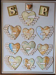 Map table plan wedding