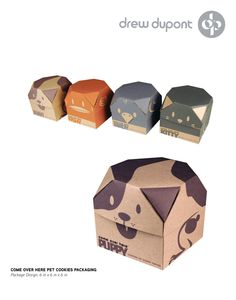 pet design Ideas Scrapbook Layouts is part of Pet Scrapbook Pages Better Homes Gardens - Come Over Here Animal Cookies Packaging Design by Drew DuPont, via Behance