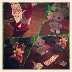 Elf on a shelf; poker night
