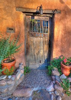 """SANTA FE DOOR. Wen I look to this this door I keep waiting for a Hobbit open it and say"""" Hello there. Would you like a cup of tea?"""""""
