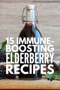 15 Immune Boosting Elderberry Recipes   If you're looking for healthy natural remedies to boost your immune system, elderberry is about to become your new BFF. Click to learn the health benefits of elderberry, how to cook with elderberry, and our favorite elderberry recipes! From elderberry syrup, teas, and jam, to homemade gummies, cough drops, and lollipops, these cold and allergy fighting ideas will help you and your kids feel better sooner! Elderberry Tea, Elderberry Gummies, Elderberry Recipes, Homemade Gummies, Wellness Mama, Wellness Tips, Seasonal Allergies, Natural Health Remedies, Allergies