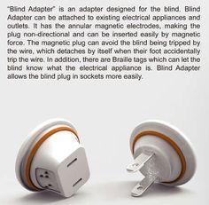 Visually impaired aid adaptors