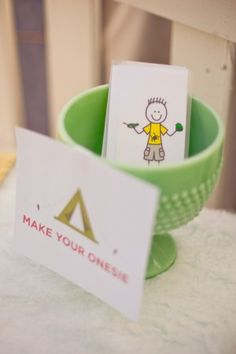 make your own onesies - activity idea