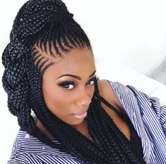 Super cute and creative cornrow hairstyles ideas you can try today 37 Two Braid Hairstyles, Classic Hairstyles, African Braids Hairstyles, Girl Hairstyles, Black Girl Braids, Braids For Black Hair, Girls Braids, Natural Hair Styles, Long Hair Styles