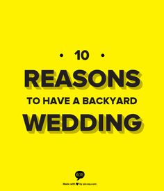 10 Reasons To Have A Backyard Wedding...especially like ths picture of the mason jar chandelier :)
