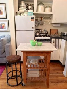 30 Small Cool Kitchens from Real Homes | Apartments, Apartment ideas ...