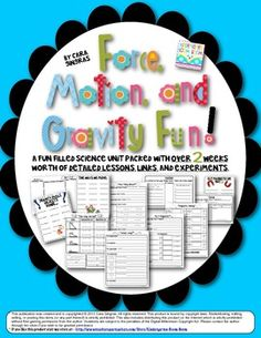 Force, Motion, and Gravity Science Unit - Over 2 weeks of detailed lesson plans and experiments $