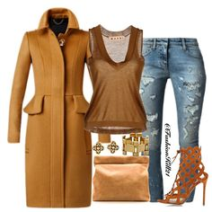 Instagram media by fashionkill21 - Date Night  DETAILS: Coat #Burberry Tank #Marni Jeans #Faithconnexion Earrings #Vancleefandarpel Bracelet #Cwonder Shoes #Gianvitorossi Bag #Shopbop #Styledbyfashionkill21  Tag your friends!