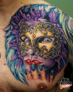 Realism Mask Tattoo by Cecil Porter Latest Tattoos, Great Tattoos, Tattoos For Guys, Awesome Tattoos, Tattoo Aftercare Tips, Mask Tattoo, World Tattoo, Best Masks, Tattoos Gallery