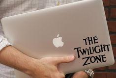 Twilight Zone Logo - Vinyl Decal Horror Weird Macbook Laptop Car decal Car Art Window Wall Glass Skateboard Sticker by DecalManiac on Etsy https://www.etsy.com/listing/270147108/twilight-zone-logo-vinyl-decal-horror