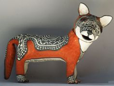 "Say hello to ""Fox"", one of the whimsical creations of Molly Heizer."
