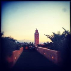Sunset @elfennmarrakech #elfenn #elfennmarrakech #marrakech #morocco #sunset #instagood - @elfennmarrakech- #webstagram