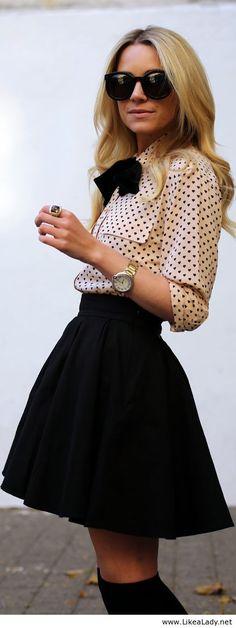 E o estilo Lady Like vem com tudo no outono,com suas saias rodadas e saias marcadas mostra que os anos 40 e 50 tem muito a nos inspirar...