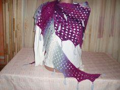 Crochet multicolor scarf/ Christmas gift/Handmade scarf/Asymmetric scarf/Women crochet scarf/