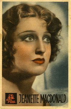 She is #JeanetteMacDonald on old postcard of hollywood!!!