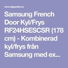 Samsung French Door Kyl/Frys RF24HSESCSR (178 cm) - Kombinerad kyl/frys från Samsung med exklusiv design och praktiska funktioner, inklusive tillgång till kolsyrat vatten, för den som vill ha det lilla extra.