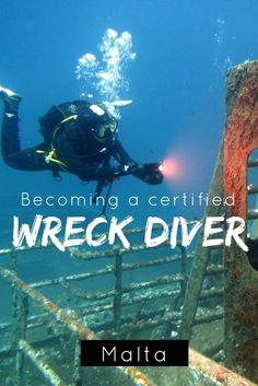 Becoming a certified wreck diver in Malta (wreck diving, scuba diving) - World… http://divingtales.com