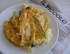 Oven baked zucchini with cheese Paleo Recipes, Dinner Recipes, Bake Zucchini, Hungarian Recipes, Oven Baked, Fat Fast, Vegetable Recipes, Lasagna, Quiche