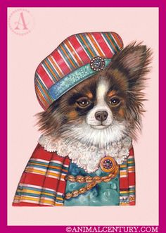 chihuahua prince; so cute!! In this site you can find art for dog and cat lovers.