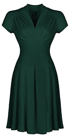 LUNAJANY Women's Retro Deep-V Neck Elegant Sleeve 1950s Vintage Bridesmaid Dress Xsmall Green LunaJany http://www.amazon.com/dp/B015F430N4/ref=cm_sw_r_pi_dp_wPHuwb1SFPRW6