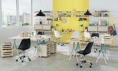 Tok&Stok Office Combine design arrojado à cores vibrantes para dar vida a qualquer ambiente de trabalho.