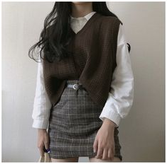 Korean Girl Fashion, Korean Street Fashion, Ulzzang Fashion, Asian Fashion, Cute Casual Outfits, Pretty Outfits, Winter Outfits, Casual Clothes, Summer Outfits For Teens