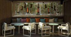 Diseño terraza bar discoteca Lotus. Decoración terraza bar discoteca Lotus. Bar, Beach Hotels, Discos, Restaurants, Colors