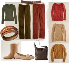 """soft autumn casual week"" by teamonkey on Polyvore"