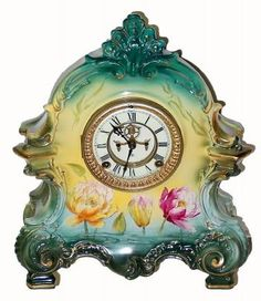 Tabletop Clocks, Antique Clocks, Vintage Watches, Old And New, Shells, Orange, Detail, Antiques, Kitchen