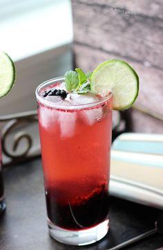 Blackberry Lime Mojitos - a refreshing homemade cocktail! http://blahnikbaker.com