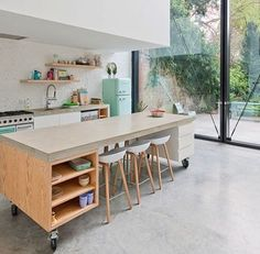 kitchen island on wheels wonder if it would work in a narrow kitchen as a pull out system lalo by sculpit