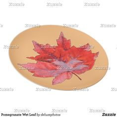 Pomegranate Wet Leaf Plate