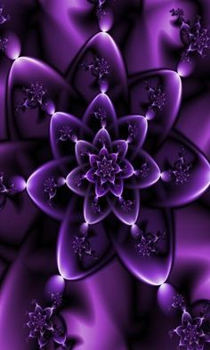 Purple fractal flower.