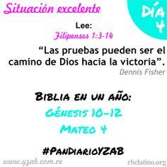 #PanDiarioYZAB Día 4: Situación excelente  Biblia en un año: Génesis 10–12 y Mateo 4 Más detalles: www.yzab.com.ve #YZAB #EVOLUCIÓN #Espiritualidad #EstilismoEspiritual